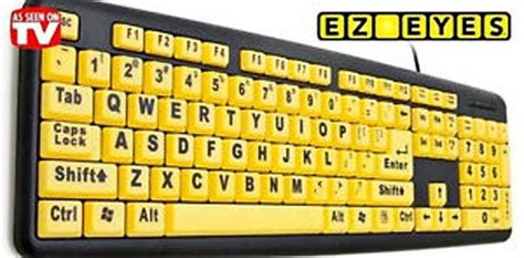 printing large letters on computer new ez eyes large print keyboard 4x larger letters spill