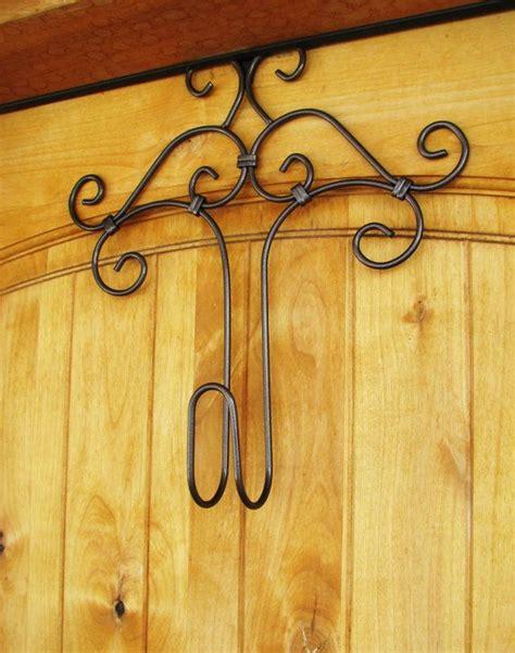 decorative wreath hanger door hanger rustic home decor - Decorative Door Wreath Hangers