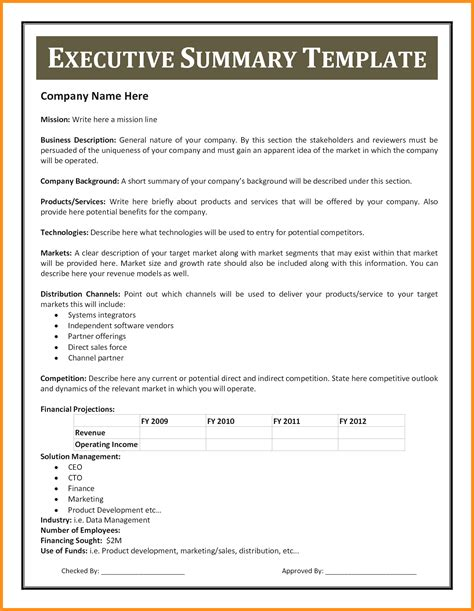 contract summary template gse bookbinder co