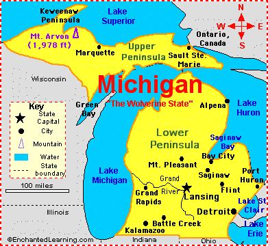 america map enchanted learning citizen activism in michigan right to work laws and
