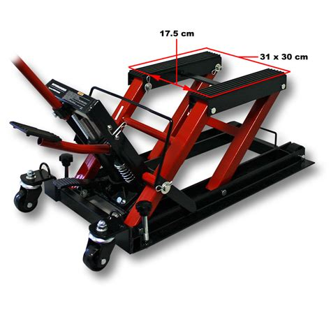 hydraulic motorcycle bench 1500lb 680kg hydraulic motorcycle workbench lift bike atv