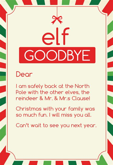 printable goodbye letter to elf on the shelf 15 helpful elf on the shelf goodbye letters