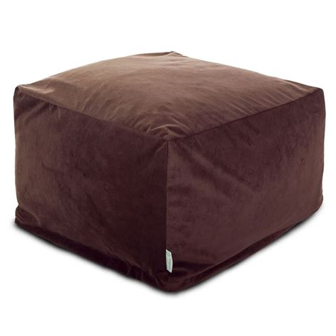 suede ottoman faux suede ottoman brown lg beanbagtown com