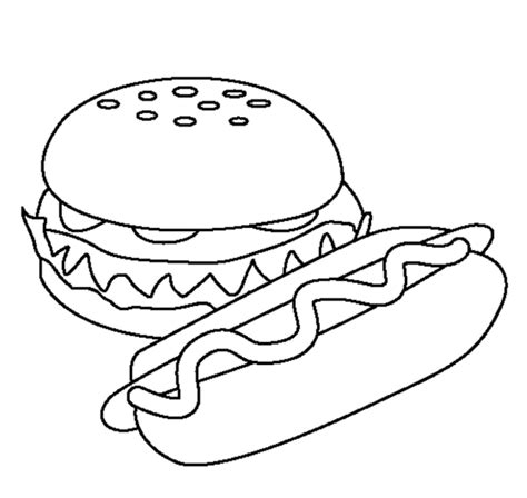 dog treat coloring page hot dog drawings cliparts co