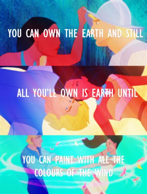 paint with all the colors of the wind lyrics pocahontas paint with all the colors of the wind disney