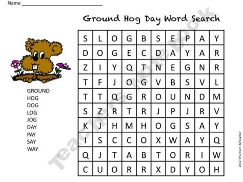 printable word search groundhog day groundhog day word search pinned by pediastaff please