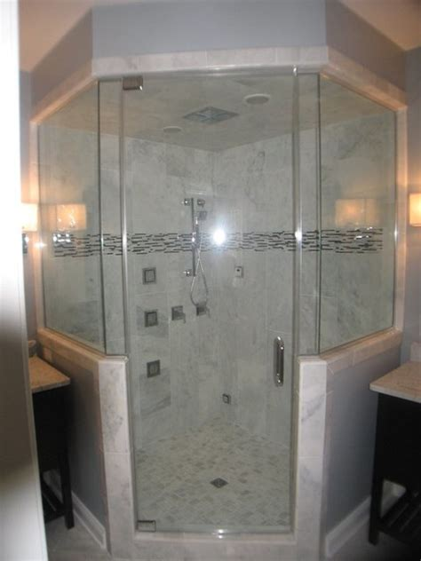 Shower And Jets by Steam Shower With 4 Panel Shower Rainhead And Jets Marble Traditional Bathroom