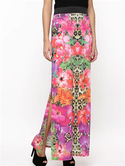buy lipsy hibiscus and animal print maxi skirt for