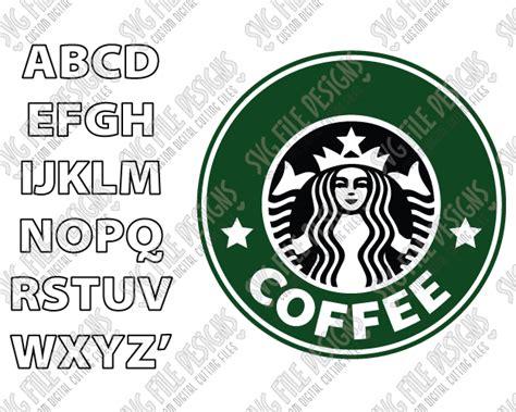 design a starbucks logo make your own custom starbucks logo svg cut file set