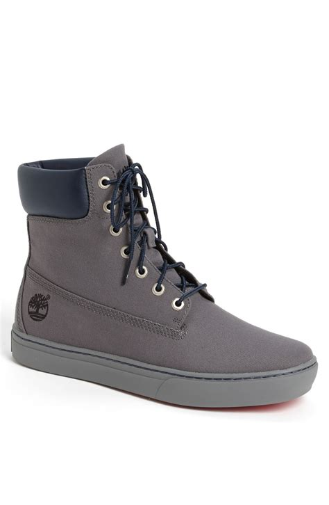 timberland earthkeepers newmarket plain toe boot in gray