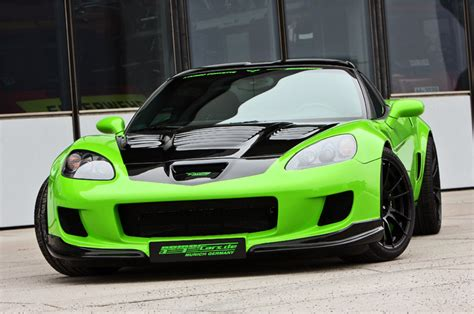outrageous lime paint devil in green geiger s 890 hp biturbo corvette z06