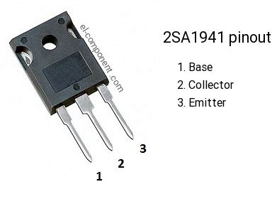substituto transistor a1941 2sa1941 p n p transistor complementary npn replacement pinout pin configuration substitute