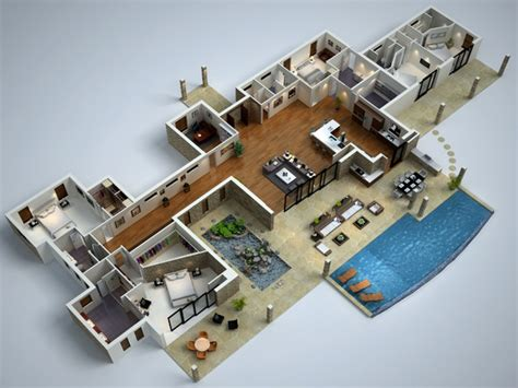 modern mansion floor plans modern house floor plans modern 3d floor plans modern