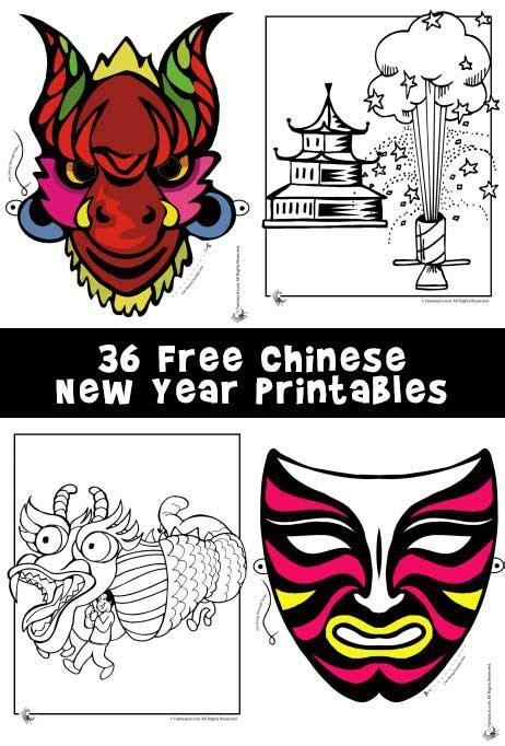 new year animal masks free new year printables masks dragons and coloring