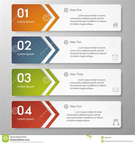 graphic design layout online design clean number banners template stock vector