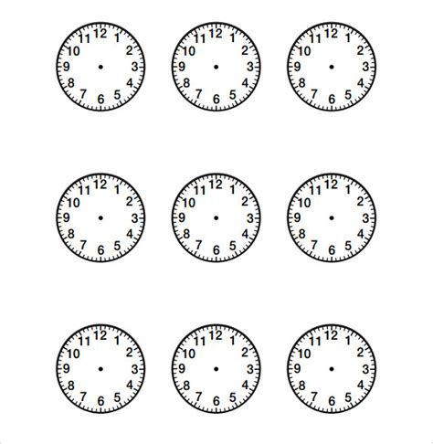 clock template html sle clock face 11 documents in pdf word