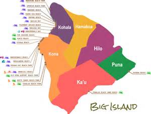 beaches map hawaii big island