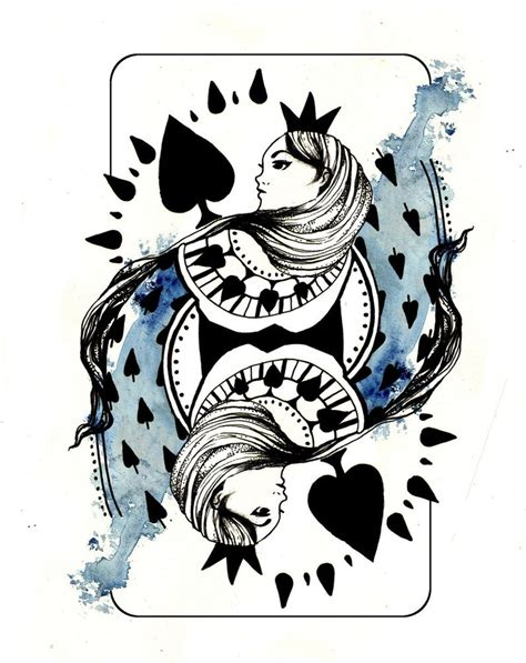 queen of spades tattoo designs of spades revised by lauramossop on deviantart