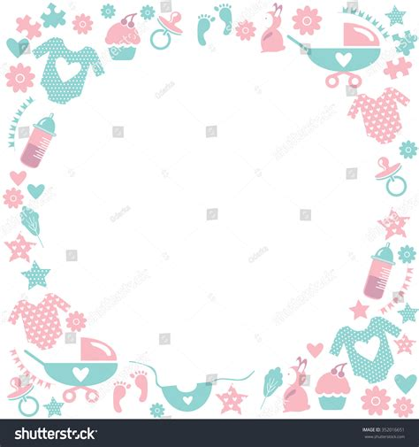 Accessories For Baby Shower by Circle Baby Framecute Greetings Card Baby Stock Vector