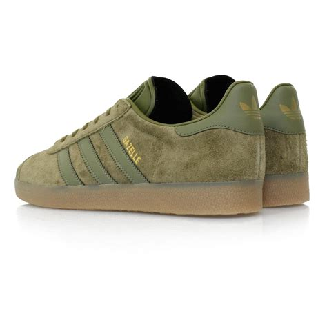 adidas originals gazelle olive shoe  green lyst