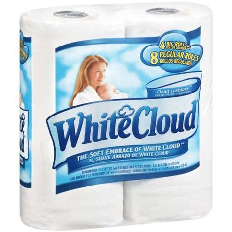 Who Makes White Cloud Toilet Paper - white cloud bathroom tissue 4 ct paper plastic