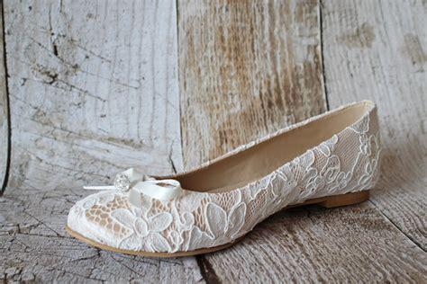 brautschuhe flach ivory flache brautschuhe ballerinas spitze creme beige