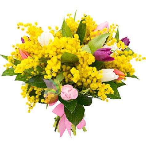 bouquet mimosa e fiori foto bouquet di mimosa e tulipani spediamo fiori dolci e