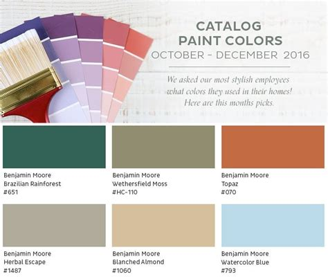 paint colors from our october december 2016 catalog how