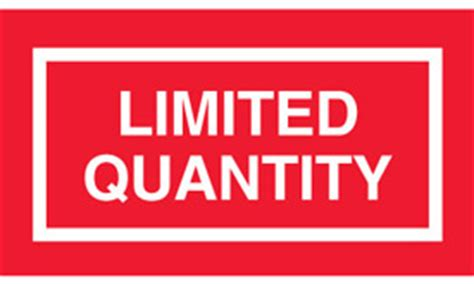 printable limited quantity label limited quantity products