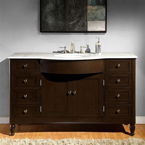 bathroom vanity plus 6717 wm 58 58 single sink vanity carrara white marble