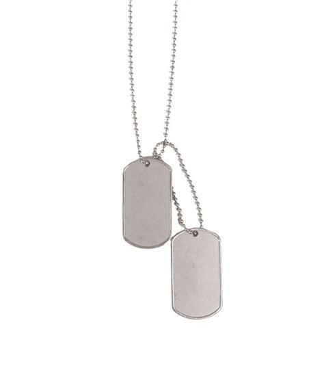 cadenas con chapas militares chapas de identificaci 243 n con cadena plateadas armysoft es