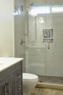 Walk In Shower For Small Bathroom Walk In Shower Small Bathroom With Niche And Brushed Nickel Fixtures Looks Like 3x12 Rectangle