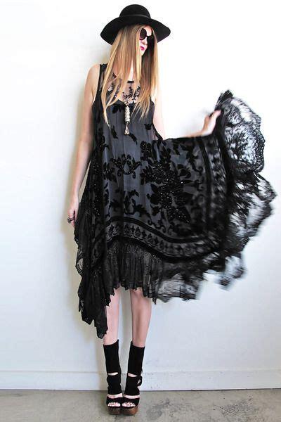 thee  gorgeous  black dress  stevie nicks