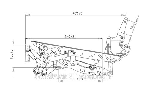 parts of a sofa ad369 manual recliner sofa mechanism for home theater