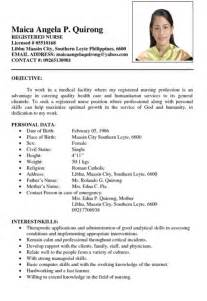 Nurse Resume Template Philippines Resumes Design
