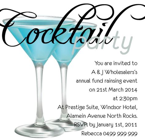 Cocktail Party Invitations Templates Free Cloudinvitation Com Free Cocktail Invitation Templates