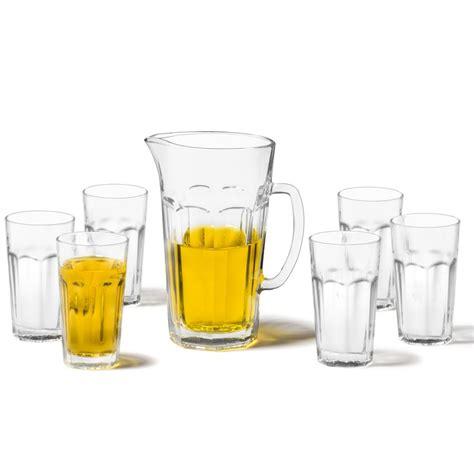 leonardo bicchieri leonardo brocca con bicchieri rock set 7 pezzi