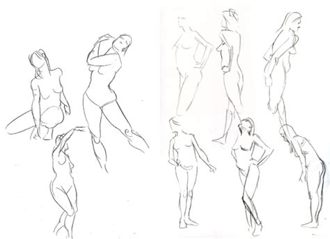1 Minute Pose Sketches by Figure Drawing Tips Learn To Draw On Craftsy