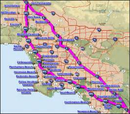interstate 5 los angeles map