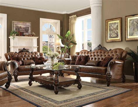 buy sofa and loveseat set buy acme 52100 versailles sofa and loveseat set 2 pcs in