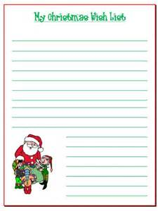 List template christmas wish word free printable santa pictures
