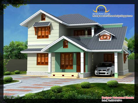 Beautiful Kerala House Plans Beautiful 1637 Sq Ft Villa Plan And Elevation Kerala House Design Idea