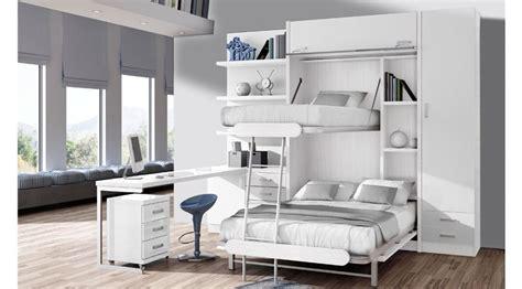 somier con cama abajo litera abatible vertical de 135 x 190 y litera de 90 x 190