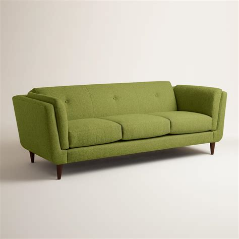 world sofa chunky woven reza upholstered sofa world market
