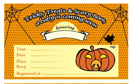 Free Printable Halloween Baby Shower Invitations   how to throw halloween baby shower my practical baby