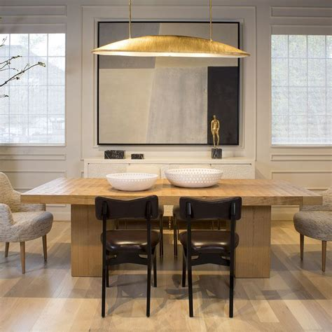 utopia large linear pendant gild dining room design
