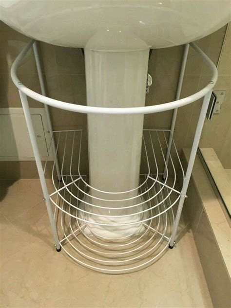Bath Sink Storage by Bathroom Storage Rack White Pedestal Sink Towels