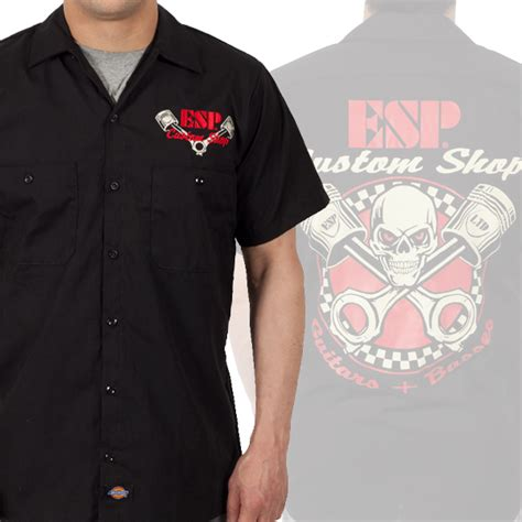 Stores With Shirts Esp Guitars Quot Custom Shop Quot Work Shirts Esp Guitars