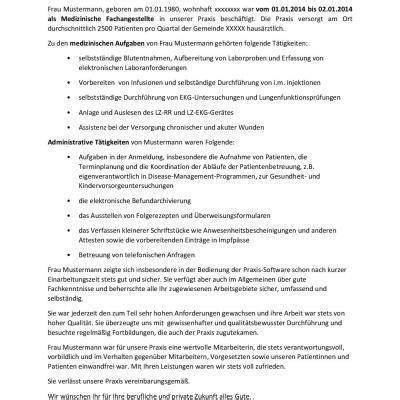 Kostenlose Vorlage Arbeitszeugnis Arbeitszeugnis Medizinische Fachangestellte Fr 252 Arzthelferin Vorlage Kostenlose Vorlagen