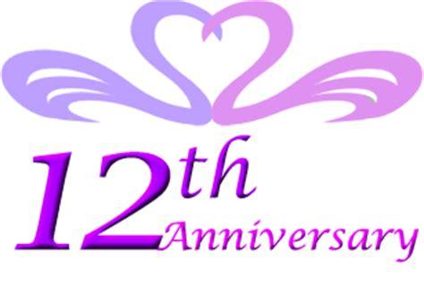 Twelfth Wedding Anniversary Symbol
